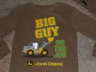 NWT John Deere Tractor Brown Thermal Shirt Beanie 4 7