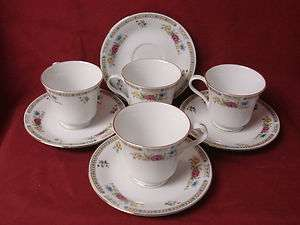 LiLing Fine China, Dinnerware Ling Rose Pattern# 1106 Set 4 cup and
