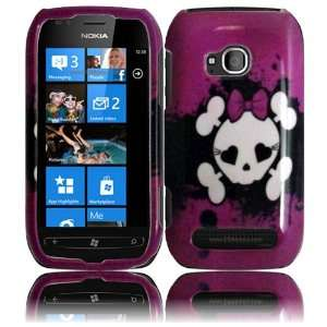 Pink Skull Design Hard Case Cover for Nokia Lumia 710