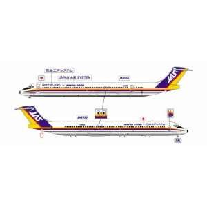 JET X 200 JAS Japan Air System MD 81 Model Airplane