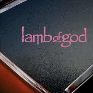 Lamb Of God Pink Decal Metal Band Truck Window Pink