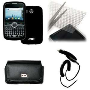 EMPIRE Sprint Express Black Leather Case Pouch with Belt