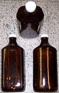 KERR 4 PACK AMBER GLASS BOTTLES 32 OUNCES MEDICINE WINE