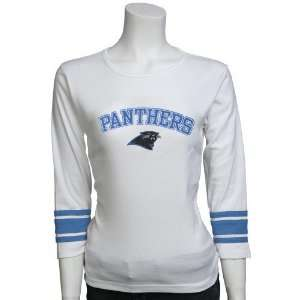 Carolina Panthers Ladies White Victory Long Sleeve T shirt