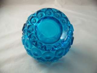 SMITH GLASS COMPANY MOON AND STAR COLONIAL BLUE SPLIT HANDLE
