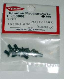 Kyosho M3x6 Flat Head Screw Set ~KYO1 S33006