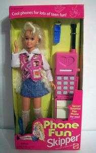 Barbie Phone Fun SKIPPER Doll w Secret Surprise Play Phone For YOU