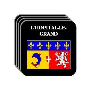Rhone Alpes   LHOPITAL LE GRAND Set of 4 Mini Mousepad