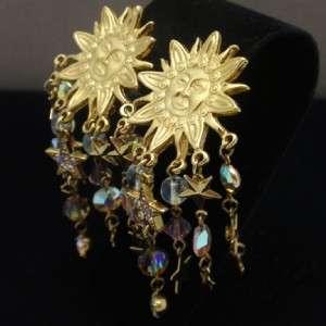 Kirks Folly Earrings Seahorse Suns Stars Crystals