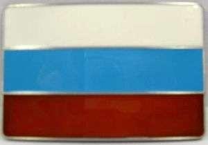 RUSSIA FLAG METAL BELT BUCKLE RUSSIAN NEW FREE S/H B246