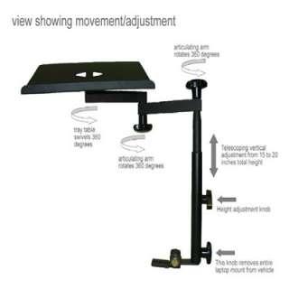 Laptop mount stand desk holder car truck RV CFL 65
