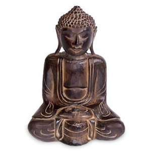 Wood statuette, Religious Man Home & Kitchen