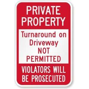 Private Property Turnaround on Driveway Not Permitted