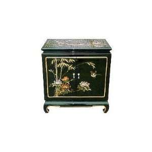 Japanese Black Lacquer End Table