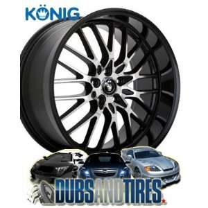 18x8 Konig wheels Lace Black/Machine Spoke wheels rims Automotive