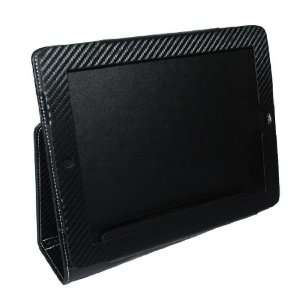 Genuine Leather Black Textured Folio Case Protector for