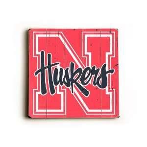 University of Nebraska Huskers Wood Sign