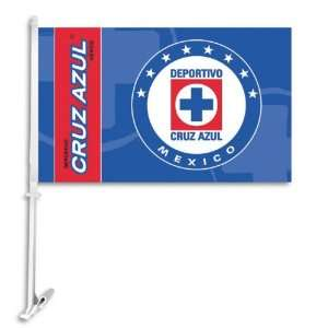 Cruz Azul Car Flag with Wall Bracket (Set of 2): Sports