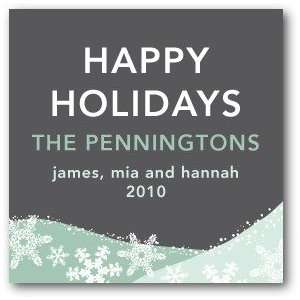 Personalized Holiday Gift Tag Stickers   First Snowfall By