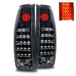 1988 1998 Chevy Full Size LED Tail Lights (Black) Automotive