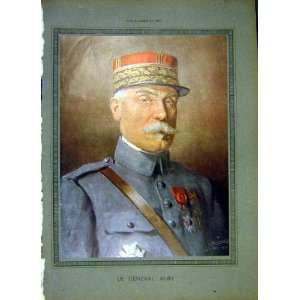 Portrit Alby General Military French Print 1919