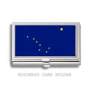 Alaska State Flag Business Card Holder Case Everything