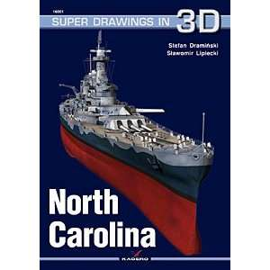 USS North Carolina (Super Drawings in 3D):  Books