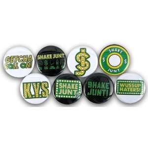 Shake Junt Logo Pin Set 8 Pack: Sports & Outdoors