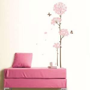 Long Stem Bloom Flower removable Vinyl Mural Art Wall Sticker Decal