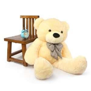 Cozy Cuddles Huggable Plush Cream Teddy Bear 46in Toys & Games
