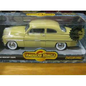 1949 Mercury Coupe in Yellow Rare Diecast 118 Scale American Muscle
