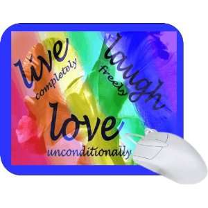 Rikki Knight Live Laugh Love Design Mouse Pad Mousepad   Ideal Gift