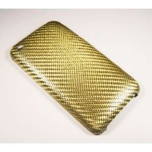 Pure Carbon Fiber Ultra Slim iPhone Case  Elegance Gold Electronics