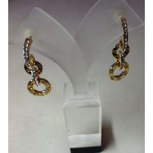 Cartier Love Earrings Filled with Crystals in Yellow Gold