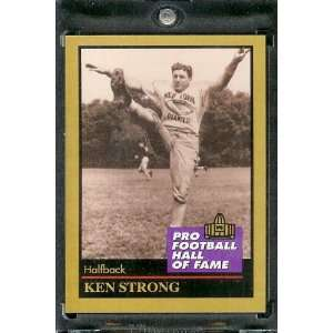 1991 ENOR Ken Strong Football Hall of Fame Card #132   Mint Condition