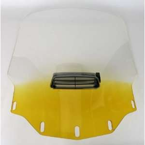Memphis Shades Gold Wing Windshield   Tall Vented   Gradient Yellow