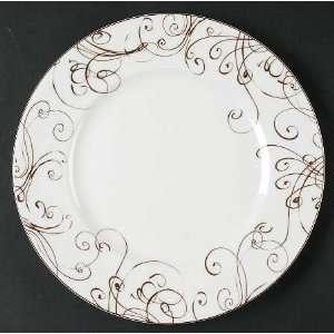 China Chocolate Dinner Plate, Fine China Dinnerware