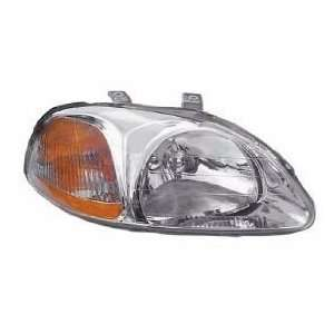 Honda Civic Headlight Sedan/Hatchback/Coupe Headlamp Passenger Side