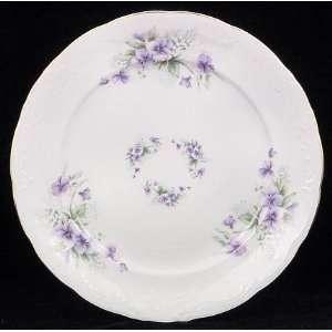 Violet Fine China Dinner Plate