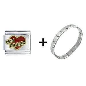Best Friend Heart Of Love Italian Charm Pugster Jewelry