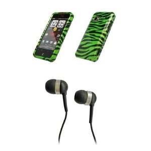 HTC Droid Incredible Premium Neon Green Zebra Skin Design