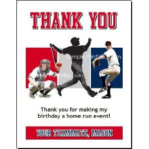 St Louis Cardinals Colored Baseball Thank You Cards