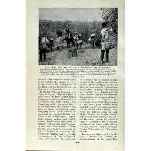 HARVEST TASMANIA APPLE ORCHARD FRUIT TREES PEOPLE