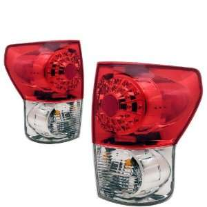 2007 2008 Toyota Tundra KS LED Red/Clear Tail Lights Automotive