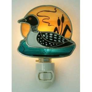 Stained Glass Loon Night Light