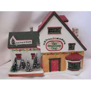 Cranberry Bog Christmas Village Lighted 7 Collectible