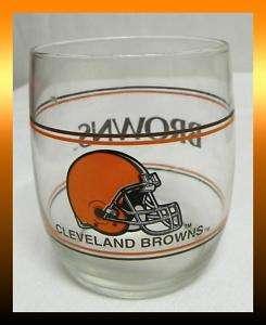 1993 TEAM NFL Cleveland BROWNS Helmet Logo 12oz Highball Drinking