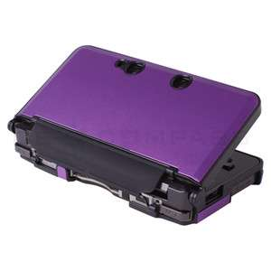 Purple Metallic Style Hard Case Cover For Nintendo 3DS