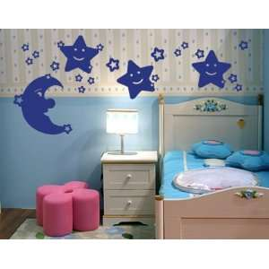 Moon and Stars Set   Vinyl Wall Decal