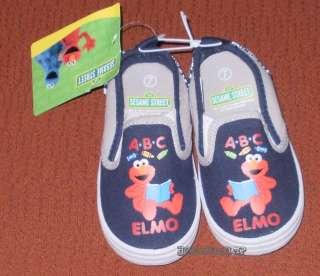 SESAME STREET ELMO ABC CANVAS SHOES Sizes 5 6 7 8 9 10 ~ NWT